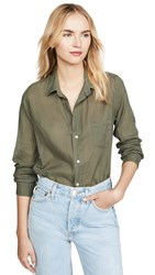 Frank And Eileen Barry Button Down Army Green