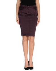 Ermanno Scervino Scervino Street Knee Length Skirts Deep Purple