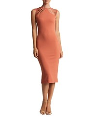 Dress The Population Gwen Strappy Bodycon Orange