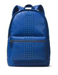 Michael Kors Bryant Studded Leather Backpack Electric Blue
