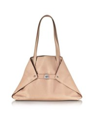 Akris Ai Small Pale Rose Leather Tote Bag Pink