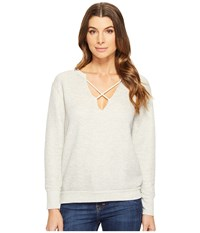Lna Crossed Over Sweatshirt Heather Grey Women's Sweatshirt Gray