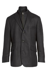 Kroon Men's Ritchie Aim Hybrid Classic Fit Wool And Cashmere Sport Coat Black