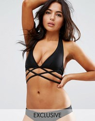 Wolf And Whistle Mix N Match D Halter Bikini Top Black