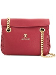 Roberto Cavalli Braided Edges Shoulder Bag Red