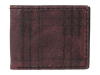 John Varvatos Plaid Printed Slim Fold Wallet Red Wallet Handbags