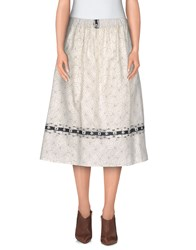 Rosamunda Skirts Knee Length Skirts Women Ivory