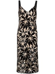 Beaufille Monet Floral Embroidered Dress Black