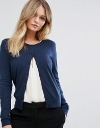 New Look Crew Neck Cardigan Navy