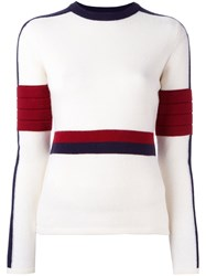 Rossignol Ribbed Colour Block Jumper White