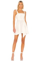 Bcbgeneration Tie Waist Mini Dress In White. Off White