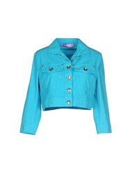 22 Maggio By Maria Grazia Severi Coats And Jackets Jackets Women Turquoise