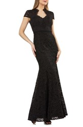 Js Collections Lace Mermaid Gown Black