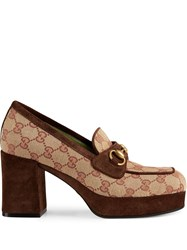 Gucci Gg Platform Mid Heel Loafers 60