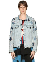 Faith Connexion Star Patched Denim Jacket