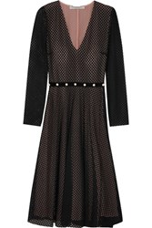 Philosophy Di Lorenzo Serafini Faux Pearl Embellished Cotton Blend Lace Dress Black