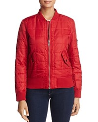 Fillmore Quilted Bomber Jacket Chilli