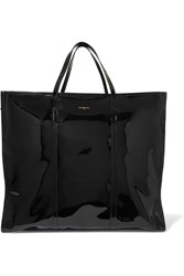 Balenciaga Bazar Xl Patent Leather Shopper Black