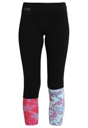Gore Running Wear Sunlight Tights Black Raspberry Rose