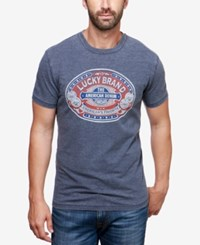 Lucky Brand Men's Denim Seal Graphic Print T Shirt American Navy