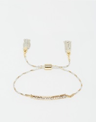 Love Rocks Sparkle Bar Gold Wrapped Friendship Bracelet