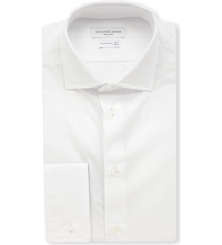 Richard James Cotton Poplin Regular Fit Shirt White