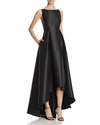 Adrianna Papell Sleeveless High Low Ball Gown Black
