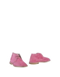 Le Crown Ankle Boots Light Purple