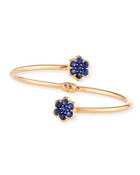 Bayco 18K Rose Gold And Blue Sapphire Floral Bypass Bracelet