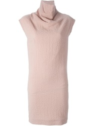 Carven Cap Sleeve Fitted Dress Pink And Purple
