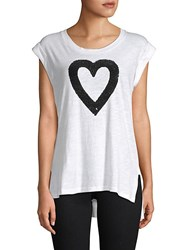 Kenneth Cole Embellished Heart Tank Top White