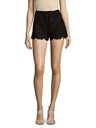 Saks Fifth Avenue Red High Waisted Lace Shorts Black