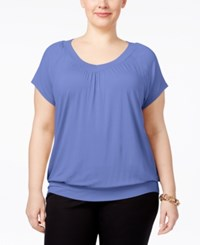 Jm Collection Plus Size Blouson Top Only At Macy's New Soft Iris