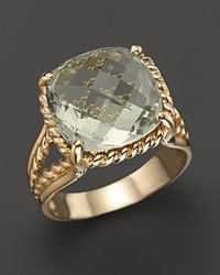 Bloomingdale's 14K Yellow Gold Green Amethyst Ring