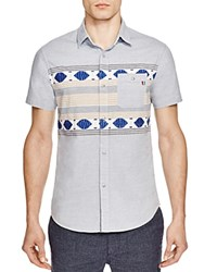 Sol Angeles Ikat Chambray Regular Fit Short Sleeve Button Down Shirt