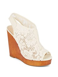 Lucky Brand Rezdah 2 Lace Wedge Sandals Beige