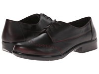Naot Footwear Lako Volcanic Red Leather Women's Flat Shoes Black