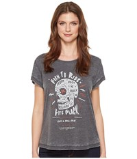 Religion Rock Roll Tee Charcoal Women's T Shirt Gray