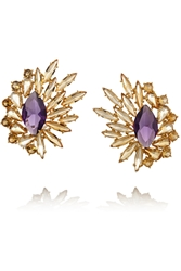Ana Khouri 18 Karat Gold Citrine And Amethyst Earrings