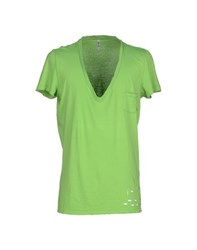 Tanomu Ask Me Topwear T Shirts Men Acid Green