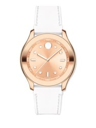 Movado Bold Rose Goldtone Stainless Steel And Silicone Strap Sport Watch White Rose