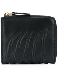 Alexander Mcqueen Zip Around Wallet Unisex Calf Leather One Size Black