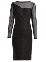 Roland Mouret Magnolia Silk Blend Jacquard Dress Black