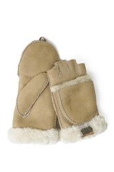 Australia Luxe Collective Genuine Shearling Trim Convertible Mitt White