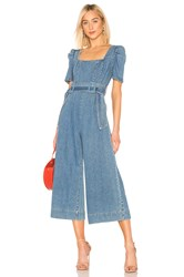 C Meo Collective Out Of Sight Jumpsuit Blue Denim
