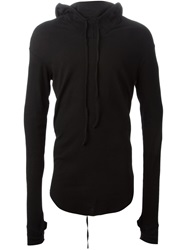 Lost And Found Lightweight Drawstring Hoodie Black