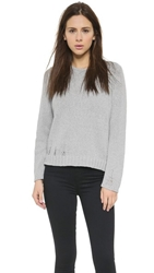 Monrow Chunky Knit Long Sleeve Sweater Grey