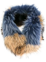Mr And Mrs Italy Furry Scarf Blue