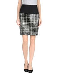 Swap Inside Knee Length Skirts Black