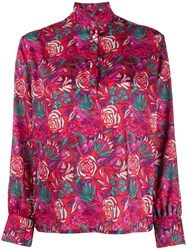 Roseanna Floral Print Blouse Red